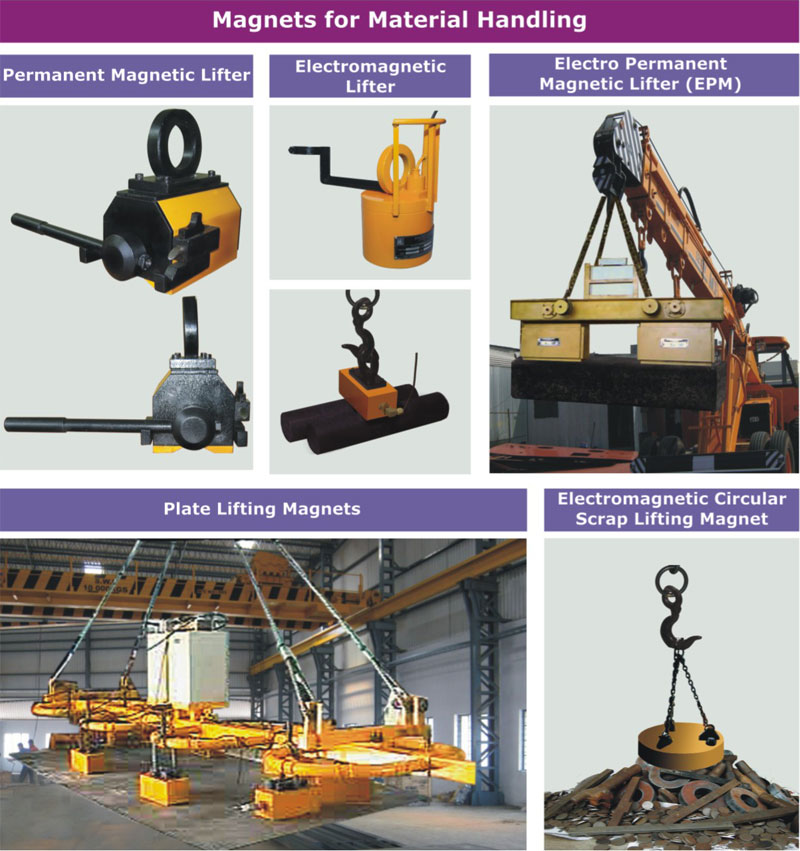 Magnetic Lifters for Material Handling